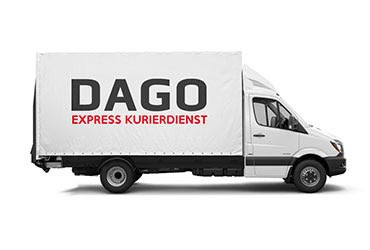 Planensprinter vom Dago Express Kurier Fuhrpark in Bad Rappenau